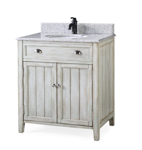 "32"" Benedetta Distressed Gray Rustic Bathroom Vanity HF-4244"