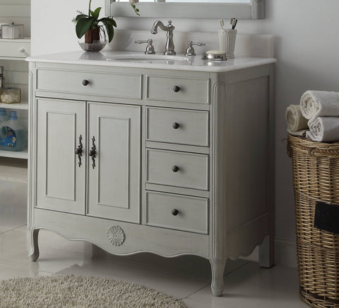 "38"" Daleville Bathroom Sink Vanity - Benton Collection HF-837CK"