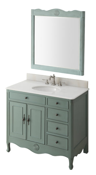 "38"" Daleville Bathroom Sink Vanity - Benton Collection HF-837Y"
