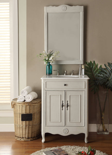 "26"" Cottage Style 2 doors Daleville Bathroom Sink Vanity with Mirror Set  - 838CK-MIR - Chans Furniture - 5"