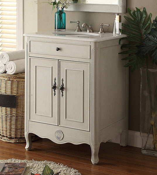 "26"" Cottage Style 2 doors Daleville Bathroom Sink Vanity with Mirror Set  - 838CK-MIR - Chans Furniture - 3"