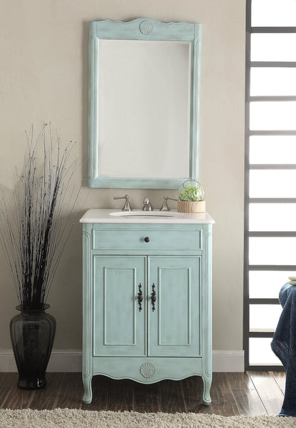 "26"" Cottage Style 2 doors Daleville Bathroom Sink Vanity with Mirror Set  - 838LB-MIR - Chans Furniture - 2"