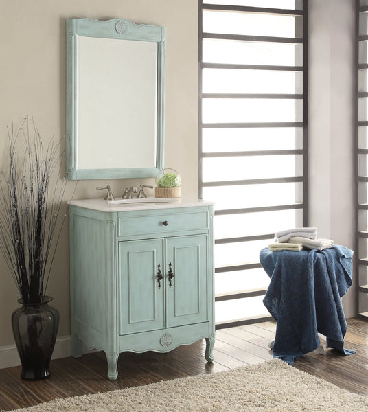 "26"" Cottage Style 2 doors Daleville Bathroom Sink Vanity with Mirror Set  - 838LB-MIR - Chans Furniture - 3"