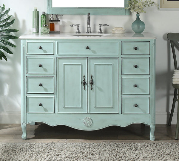 46 5 Benton Collection Distressed Light Blue Fayetteville Bathroom Si Bentoncollections