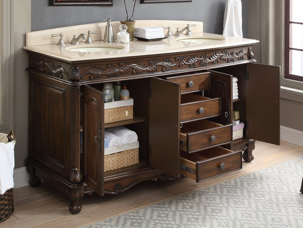 "63"" Benton collection Florence Bathroom Sink Vanity - Benton Collection # HF-036XLM-TK"