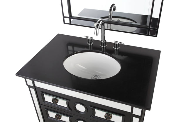 "32"" Ambrosia Bathroom Sink Vanity - Model HF-0534GT"