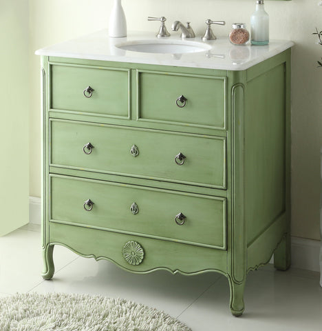 "34"" Daleville Bathroom Sink Vanity - Benton Collection HF081G"