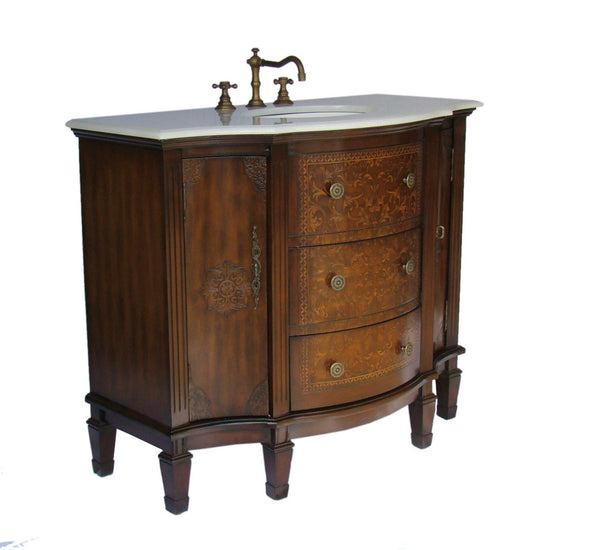 "42""  Detail Oriented Algaringo Bathroom Sink Vanity Model # HF1214 - Chans Furniture - 3"
