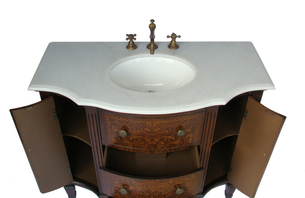 "42""  Detail Oriented Algaringo Bathroom Sink Vanity Model # HF1214 - Chans Furniture - 4"