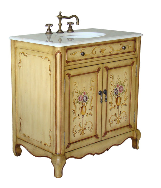 "32"" Hand Painted Foral design Camarin Bathroom Sink Vanity   HF2263 - Chans Furniture - 2"