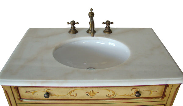 "32"" Hand Painted Foral design Camarin Bathroom Sink Vanity   HF2263 - Chans Furniture - 3"