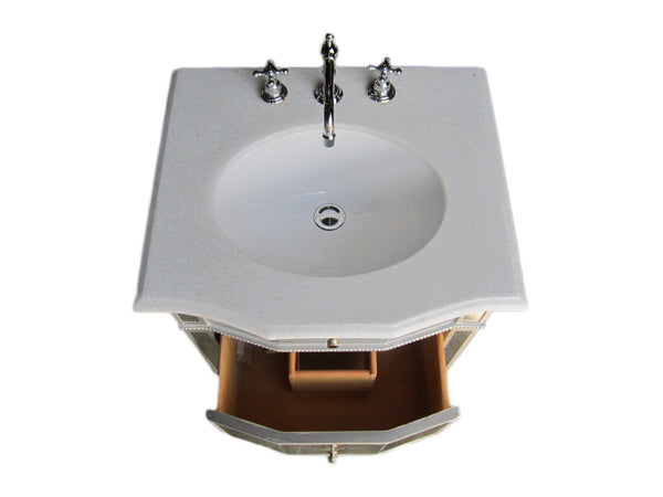 "24"" Petite mirror Reflection Ashlie bathroom sink vanity HF006 - Chans Furniture - 2"