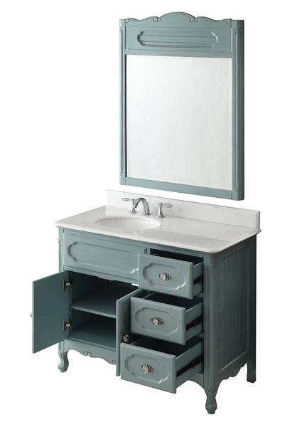 "42"" Victorian Cottage Style Knoxville Bathroom sink vanity Model GD-1509BU-42BS-MIR - Chans Furniture - 6"