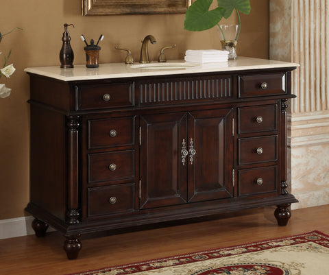 "53"" Benton Collection Traditional Style Brockton Bathroom sink Vanity model # K2261M"