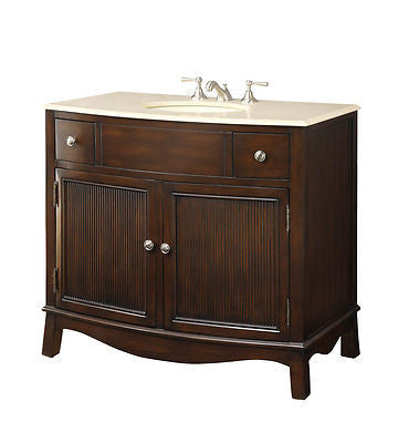 "39"" Contemporary Style Septimus Bathroom Sink Vanity  model # BC-2095M - Chans Furniture - 3"