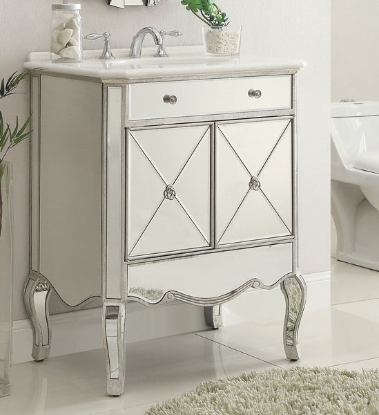 "30"" Mirror reflection Adelisa Bathroom Sink Vanity & Mirror Set   5106SL/MR-1002SC - Chans Furniture - 2"