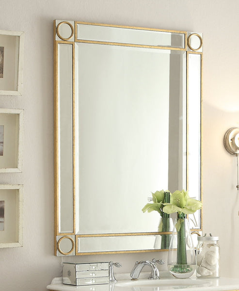 "30"" Decor Style Mirror refection Adelisa Bathroom Sink Vanity & Mirror Set    5106GC/1002G - Chans Furniture - 4"