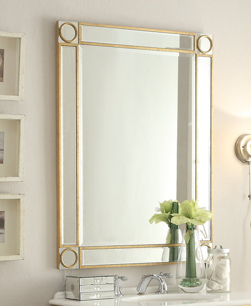 "32"" Mirror Reflection Austell Bathroom Sink Vanity & Mirror Set  BC-504GC-RA/1002GC"