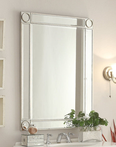 "32"" Mirror Reflection Austell Bathroom Sink Vanity Model # 5105SC  Silver leaf finish - Chans Furniture - 3"