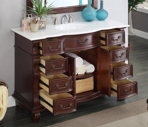 "50"" Old World Classic Hopkinton Bathroom Sink Vanity - GD-4437W-50 - Chans Furniture - 2"