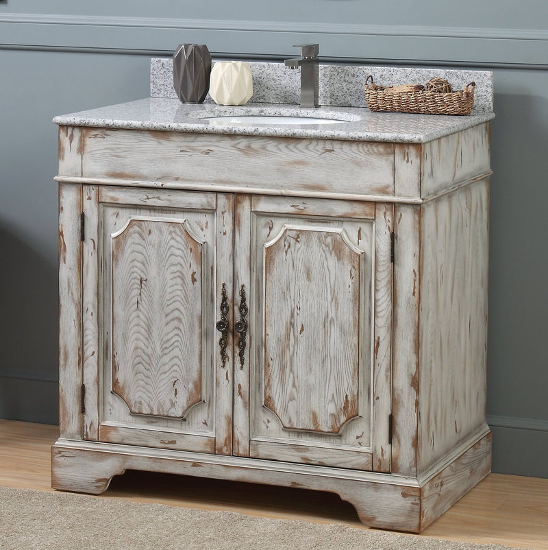 36 Benton Collection Litchfield Distressed Off White Rustic Style Bat Bentoncollections