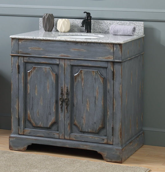 36 Benton Collection Litchfield Rustic Gray Distressed Boho Bathroom Bentoncollections