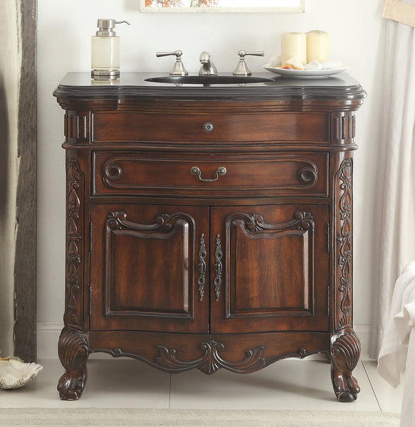 "36""  Classic Dtyle Madison Bathroom Sink Vanity Cabinet   # S01GT36 - Chans Furniture - 2"