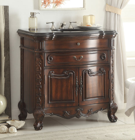 "36""  Classic Dtyle Madison Bathroom Sink Vanity Cabinet   # S01GT36 - Chans Furniture - 1"