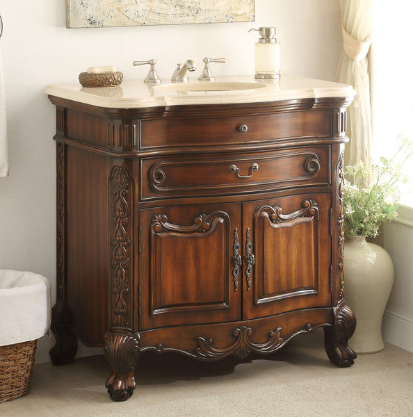 "36""  Classic Dtyle Madison Bathroom Sink Vanity Cabinet   # S01M36 - Chans Furniture - 2"