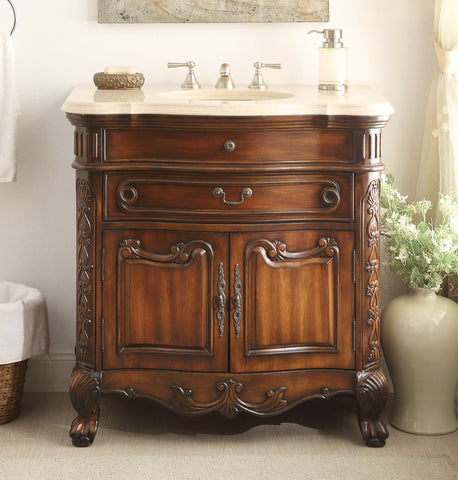 "36""  Classic Dtyle Madison Bathroom Sink Vanity Cabinet   # S01M36 - Chans Furniture - 1"