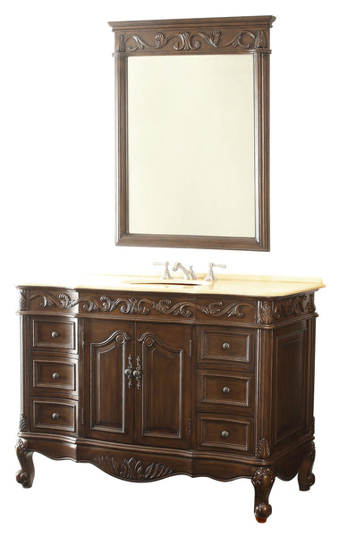 "48"" Classic Design Beckham Bathroom Sink Vanity & Mirror Set  SW-3882M-TK-48/MR-3882 - Chans Furniture - 4"
