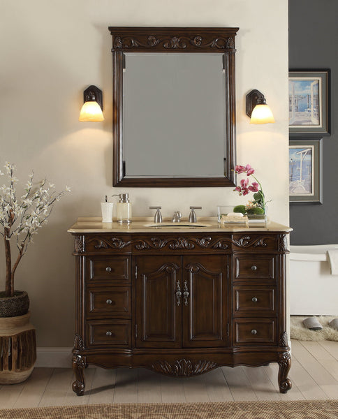 "48"" Classic Design Beckham Bathroom Sink Vanity & Mirror Set  SW-3882M-TK-48/MR-3882 - Chans Furniture - 2"