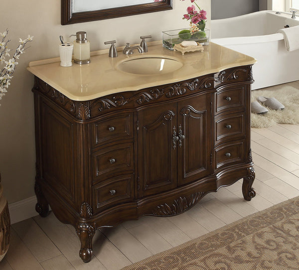"48"" Classic Design Beckham Bathroom Sink Vanity & Mirror Set  SW-3882M-TK-48/MR-3882 - Chans Furniture - 5"