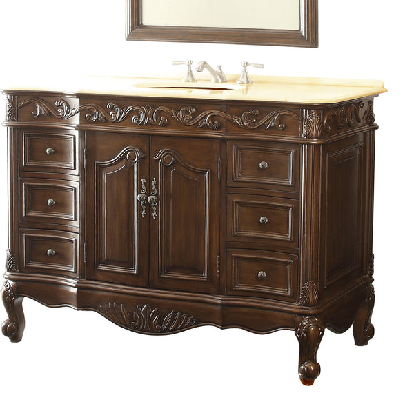 "42"" Classic Design Beckham Bathroom Sink Vanity model #  SW-3882M-TK-42 - Chans Furniture - 5"