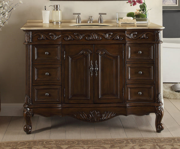 "42"" Classic Design Beckham Bathroom Sink Vanity model #  SW-3882M-TK-42 - Chans Furniture - 2"