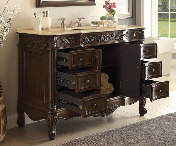 "42"" Classic Design Beckham Bathroom Sink Vanity model #  SW-3882M-TK-42 - Chans Furniture - 4"