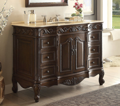 "48"" Classic Design Beckham Bathroom Sink Vanity model #  SW-3882M-TK-48 - Chans Furniture - 1"