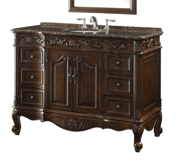 "48"" Baltic Brown Granite counter top Beckham Bathroom Sink Vanity SW-3882SB-TK-48 - Chans Furniture - 4"