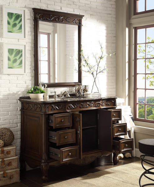 "48"" Baltic Brown Granite counter top Beckham Bathroom Sink Vanity & Mirror Set  SW-3882SB-TK-48/MR-3882 - Chans Furniture - 3"