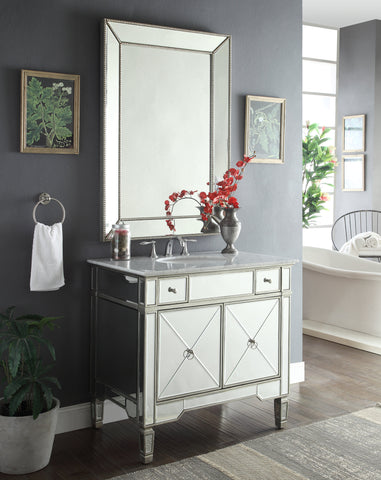 "36""  Mirror reflection Ashlyn bathroom vanity w/Ramsey mirror # YR-023RA-MR-2375 - Chans Furniture - 1"