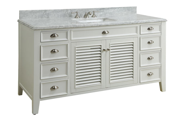 "60"" All wood construction Kalani Bathroom Sink Vanity - YR-3028Q60S - Chans Furniture - 1"