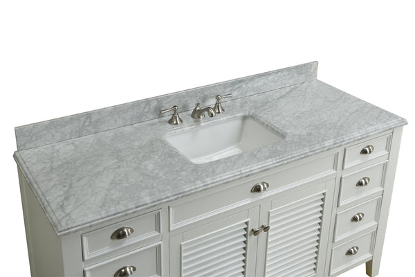 "60"" All wood construction Kalani Bathroom Sink Vanity - YR-3028Q60S - Chans Furniture - 4"