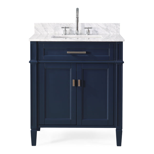 "30"" Tennant Brand Durand Navy Blue Bathroom Sink Vanity ZK-1808-V30NB"