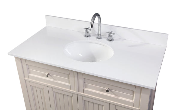 "42"" Thomasville Cottage Style Taupe Bathroom Sink Vanity - GD-47538TP"