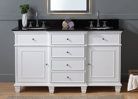"60"" Conduit Double Sink Bathroom Vanity - Benton Collection CF-64601GT"