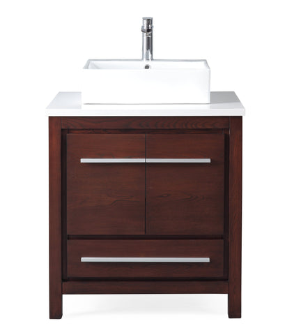 "30""  Tennant Brand Modern Style Bathroom Sink Vanity - ZK-8034-V30 Percey"