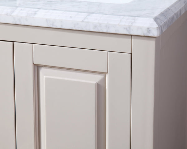 "60""  Tennant Brand Italian Carrara Taupe Color Finish Double sink Vanity - Fletcher  # ZK-8153TP-60"
