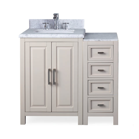 "36"" Tennant Brand Fletcher Taupe Modern Bathroom Vanity & Console ZK-8153A+B"