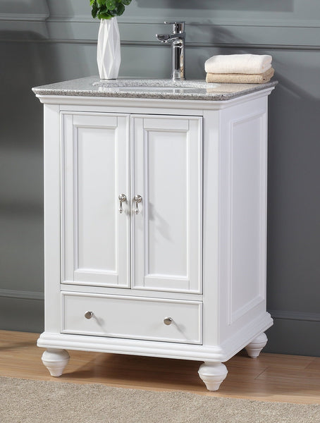 "25"" Tennant Brand Gillian Powder Room White Bathroom Vanity 9805W"