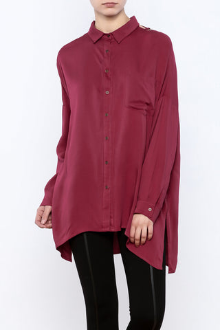 Oversized Chain-Back Blouse